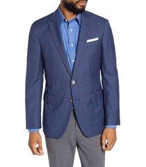 men's boss hartlay trim fit windowpane wool sport coat