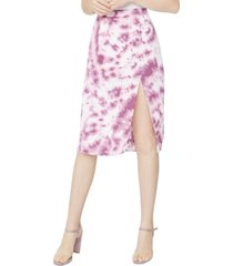 bcbgeneration tie-dyed front-slit skirt