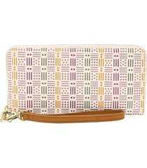 fossil women's logan zip around clutch wallet