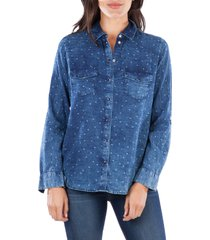 women's kut from the kloth harlow long sleeve button-up shirt