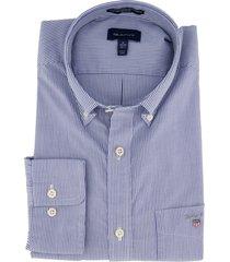 gant overhemd regular fit blauw gestreept