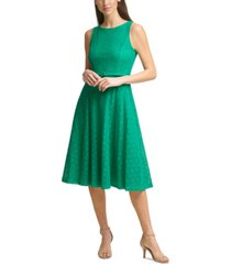 jessica howard belted lace a-line dress