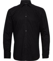 cotton poplin skjorta business svart bosweel