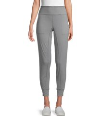 nine west women's get around high waisted joggers - heather grey - size s