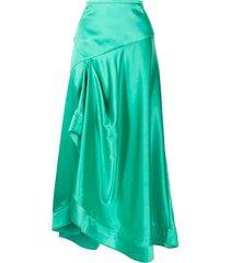 acler irwin draped skirt - green