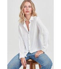 camisa pesponto rubinella contrastante feminina