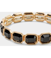 ayesha emerald cut stretch bracelet in black - black