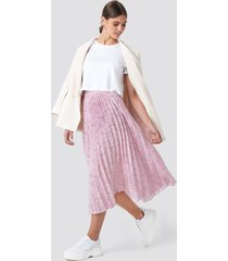 na-kd midi pleated skirt - pink