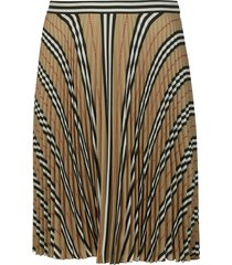 burberry pleated house check skirt