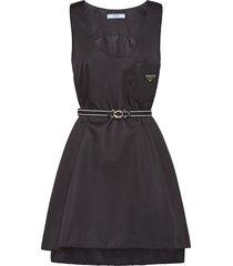 prada nylon gabardine dress - black