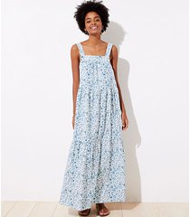 loft loft beach floral tie back maxi dress