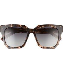 diff ariana 54mm polarized square sunglasses in espresso tortoise/grey at nordstrom