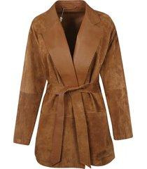 max mara tie-waist oversized cardi-coat