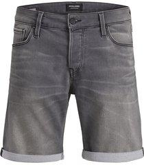 jack & jones jeans short 12148014 rick 848 grey denim - grijs