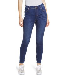 women's jag jeans valentina pull-on high waist ankle skinny jeans, size 10 - blue