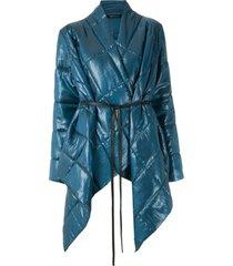 uma   raquel davidowicz jaqueta dumbo matelassê oversized - azul