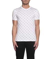 camiseta slim de algodón orgánico con logo blanco calvin klein