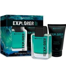 kit phytoderm explorer deep deo colonia 100ml + gel de barba 75ml masculino