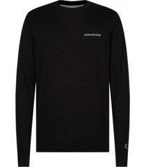 sweater instit chest negro calvin klein