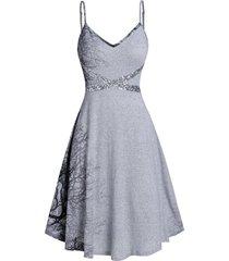 cami printed sequined mini dress