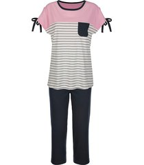 pyjama blue moon marine::ecru::roze