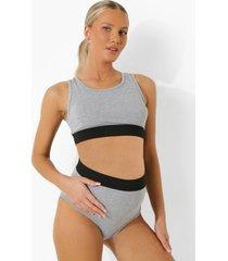 zwangerschap basic jersey bralette set, grey