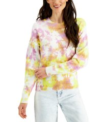 style & co petite cotton tie-dyed sweater, created for macy's