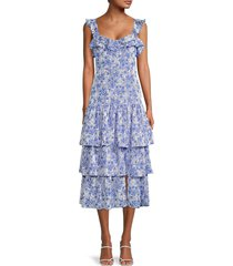 likely women's janie floral dress - blue floral - size 12