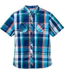 kortärmad rutig skjorta