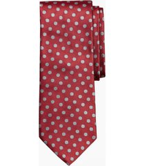 corbata melange dot rojo brooks brothers