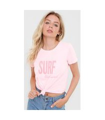 blusa rip curl washed surf top rosa