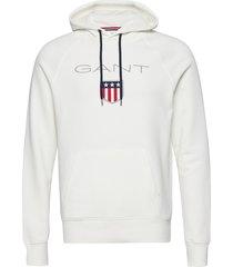 gant shield hoodie hoodie trui wit gant