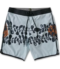 men's volcom sea batik board shorts, size 38 - blue