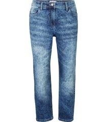jeans cropped elasticizzati 5 tasche con cinta comoda (blu) - bpc bonprix collection