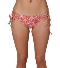 o'neill mina piper ditsy bikini bottoms, size x-small in bittersweet piper ditsy at nordstrom