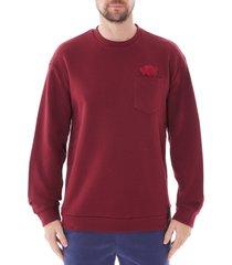 emporio armani manga bear sweatshirt with breast pocket |bordeaux| me9-1j36z 395