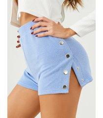 pantalones cortos de cintura alta con botón yoins diseño