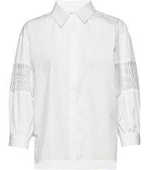puff shirt overhemd met lange mouwen wit camilla pihl