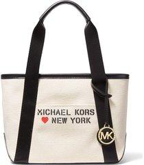 bolsa michael kors the michael bag sm tote off-white