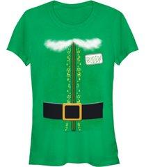fifth sun elf buddy the elf costume juniors short sleeve t-shirt