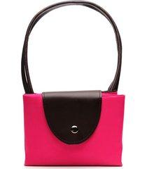 bolso fucsia color rosado, talla uni