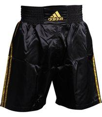 pantaloneta de boxeo adidas amateur negro/dorado