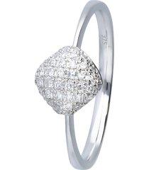 anello in oro bianco con diamanti 0,144 ct per donna
