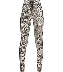 zebra-print stretch-jersey leggings