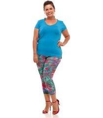 blusa melinde plus size básica new feminina