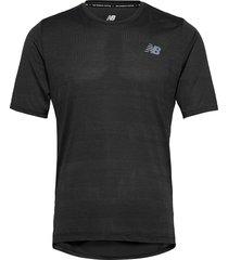 q speed fuel jacquard ss t-shirts short-sleeved svart new balance