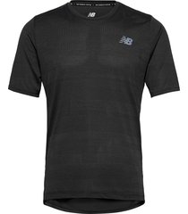 q speed fuel jacquard ss t-shirts short-sleeved svart new balance
