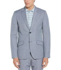 men's slim fit linen blend textured suit jacket