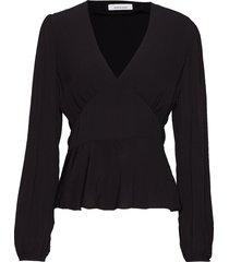 cindy blouse 10056 blouse lange mouwen zwart samsøe & samsøe