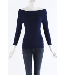 michael kors collection knit off shoulder sweater